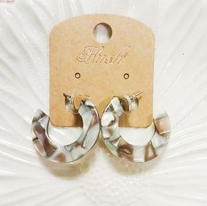Jewelry - Acetate Hoop Earrings